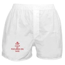 Keep Calm by focusing on Sass Boxer Shorts