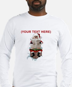 Santa Party Pooper Customizable Christmas Long Sle