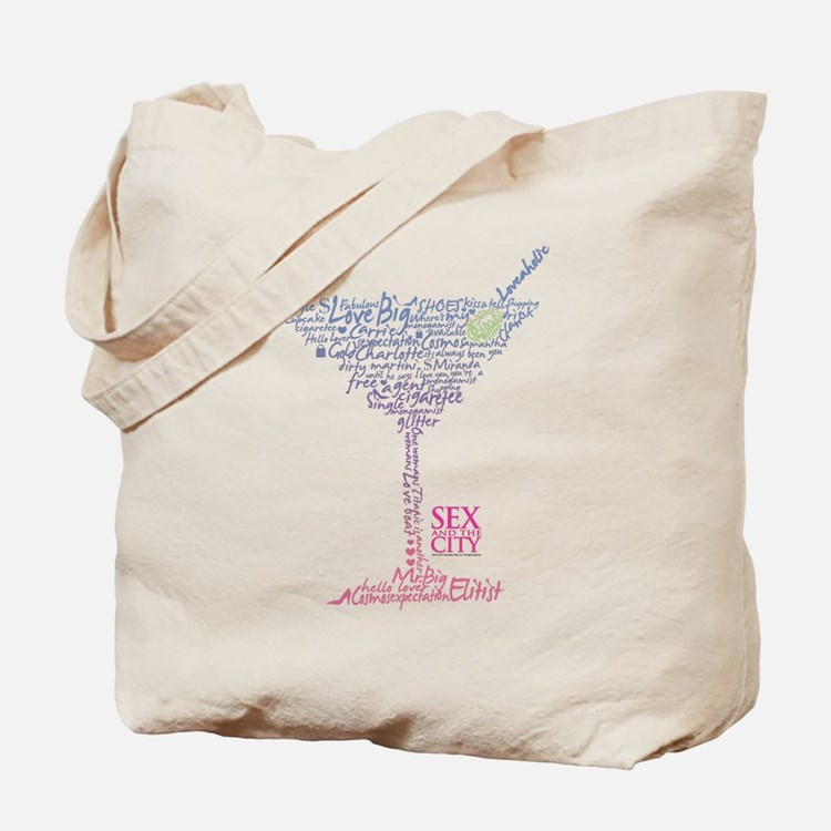 Sex and the City Martini Glass 2 Tote Bag