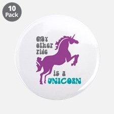 "Unicornride2.png 3.5"" Button (10 Pack)"