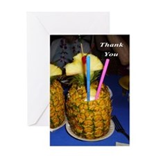 Pineapple Drink Greeting Cards