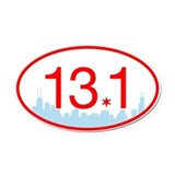 13.1 blue Oval Car Magnets