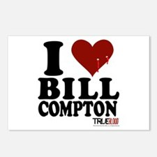 I Heart Bill Compton Postcards (Package of 8)