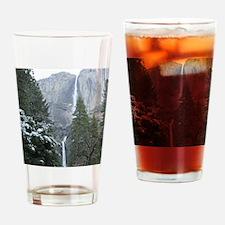 Yosemite Falls in Winter Drinking Glass