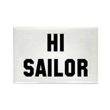 Hi Sailor Rectangle Magnet