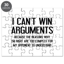 I Can't Win Arguments Puzzle