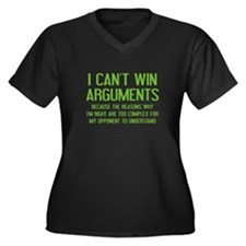 I Can't Win Arguments Women's Plus Size V-Neck Dar