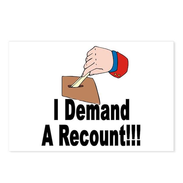 I Demand A Recount Postcards 8 By Redtengu