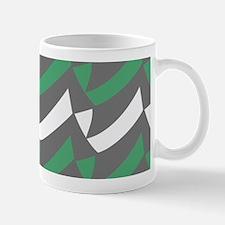 Green Gray Check Mix Mugs