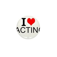 I Love Acting Mini Button (10 pack)