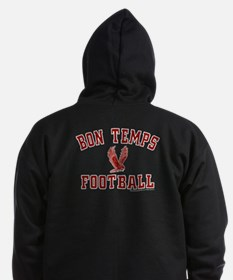 Bon Temps Football Zip Hoodie (dark)