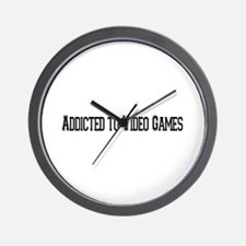 Addicted to Video Games Wall Clock