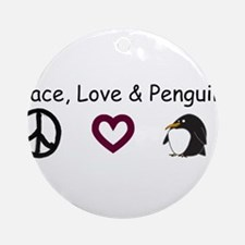 peace love penguins.bmp Ornament (Round)