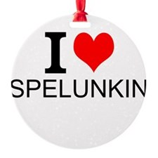 I Love Spelunking Ornament