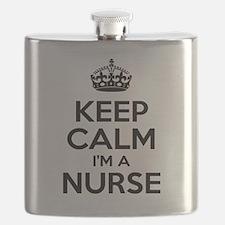 Keep Calm IM A Nurse Flask