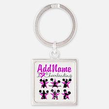 CHEERLEADER 4EVER Square Keychain
