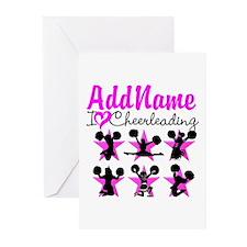 CHEERLEADER 4EVER Greeting Cards (Pk of 10)