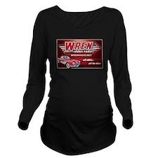 Wren Radio Design 2 Long Sleeve Maternity T-Shirt