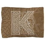 Celtic Letter K Pillow Sham