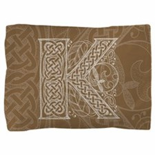 Celtic Letter K Pillow Sham