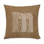 Celtic Letter M Master Pillow