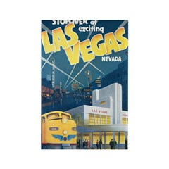 Las Vegas Rectangle Magnet (100 pack)