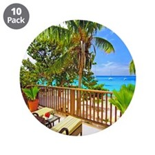"""Tropical Delight 3.5"""" Button (10 pack)"""