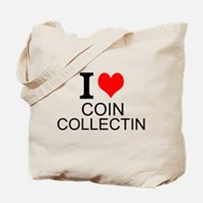 I Love Coin Collecting Tote Bag