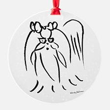 Little long hair dog Ornament