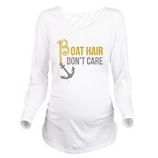 Boat Hair Long Sleeve Maternity T-Shirt