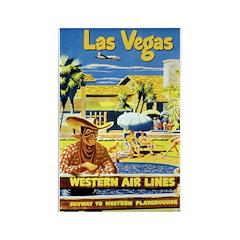 Las Vegas #2 Rectangle Magnet