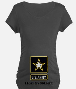 Personalize Army Maternity T-Shirt