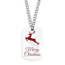 Reindeer Christmas Magic Dog Tags