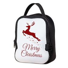 Reindeer Christmas Magic Neoprene Lunch Bag