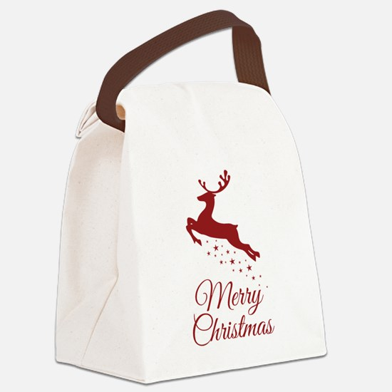 Reindeer Christmas Magic Canvas Lunch Bag