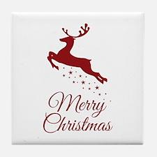 Reindeer Christmas Magic Tile Coaster