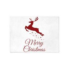 Reindeer Christmas Magic 5'x7'Area Rug