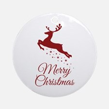 Reindeer Christmas Magic Ornament (Round)