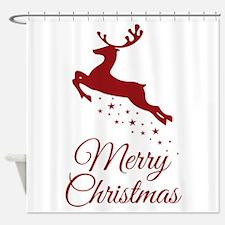 Reindeer Christmas Magic Shower Curtain