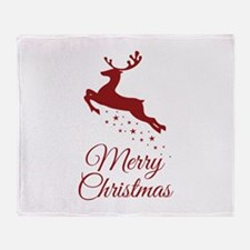 Reindeer Christmas Magic Throw Blanket