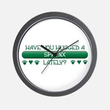 Hugged Sphynx Wall Clock