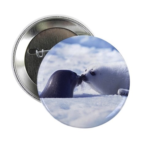 """Harp Seal 2.25"""" Button (100 pack)"""