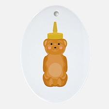 Honey Bear Ornament (Oval)