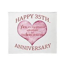 35th. Anniversary Throw Blanket