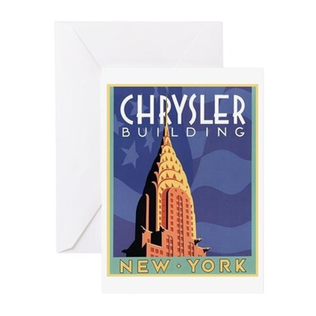 NY, Chrysler Building Greeting Cards (Pk of 10