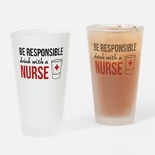 Drink with a nurse Drinking Glass