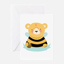 Bee Bear Blank Caption Greeting Cards