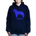 husky_blue.png Women's Hooded Sweatshirt