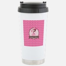 Pink Cowgirl Horseshoe Stainless Steel Travel Mug