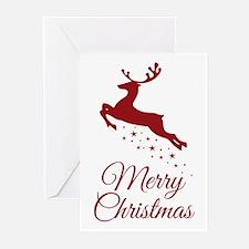 Reindeer Christmas Magic Greeting Cards